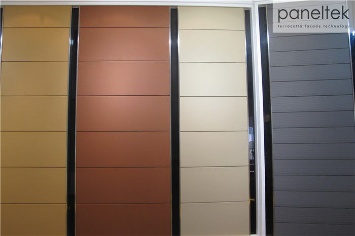 Colorful Building Wall Panels Frost Resistance For Terracotta Rainscreen System