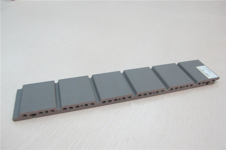 Grey Grooved Building Facade Panels 18mm Thickness Exterior Wall Materials